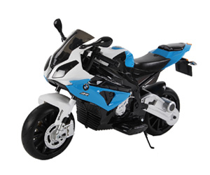 BMW motorcycle blue